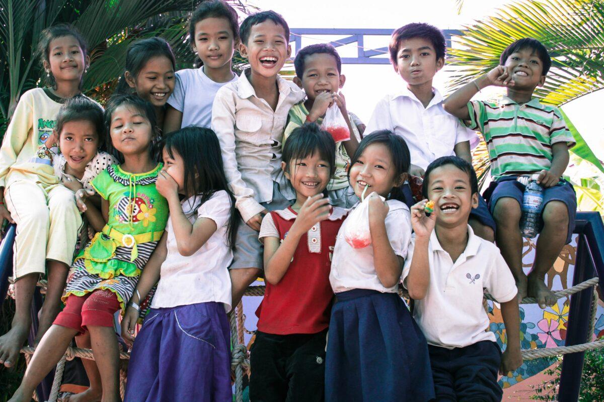 Children from Sunshine Cambodia