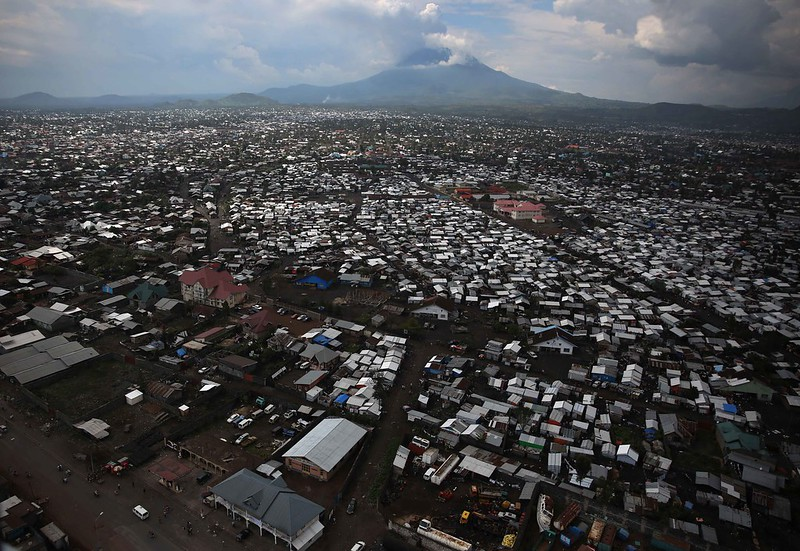 Goma sits in the shadow of an erupting Mount Nyiragongo. Credit: MONUSCO / Abel Kavanagh