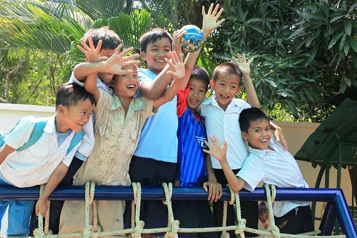 A group of children from Cambodia