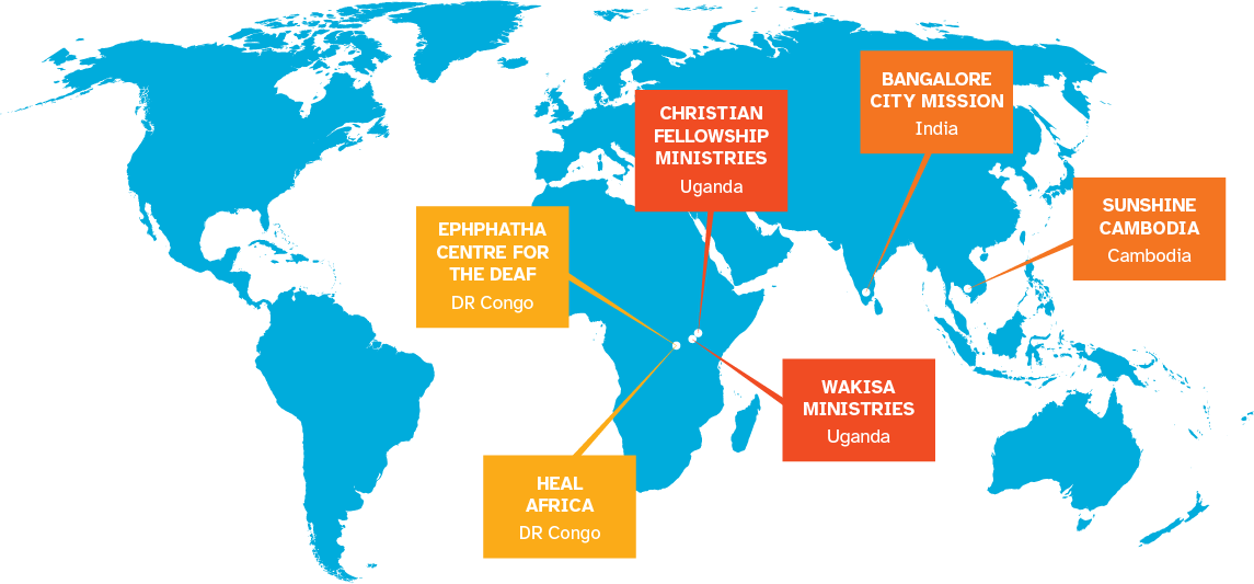 Map of the world with WorldShare partners